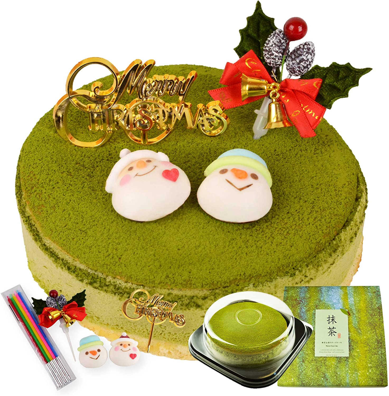 抹茶ケーキの写真
